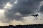 als wir starteten, landete gerade ein flugzeug ;)